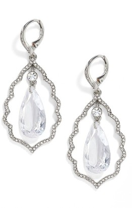 Women's Jenny Packham Orbital Crystal Drop Earrings $65 thestylecure.com