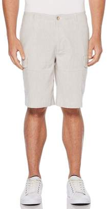 Perry Ellis Linen Blend Cargo Shorts