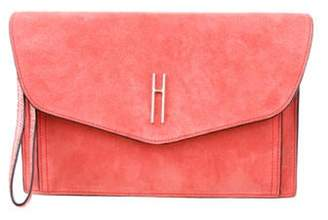 Hayward Suede Envelope Clutch Coral Suede Envelope Clutch