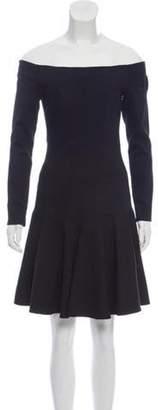 Lela Rose Long Sleeve Mini Dress Black Long Sleeve Mini Dress