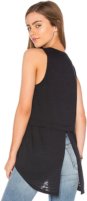 Nation LTD Cameo Tuxedo Back Tank in Black $74 thestylecure.com