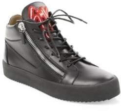 Giuseppe Zanotti Varsity Mid Top Leather Sneakers