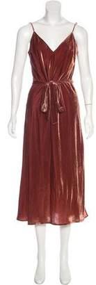 Frame Sleeveless Velour Maxi Dress
