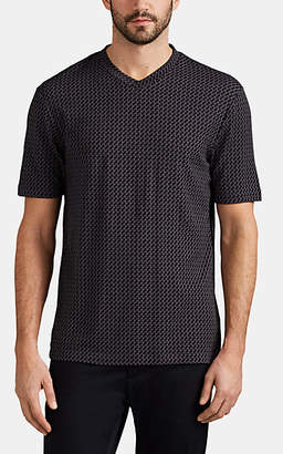 Giorgio Armani Men's Geometric Jersey T-Shirt - Gray