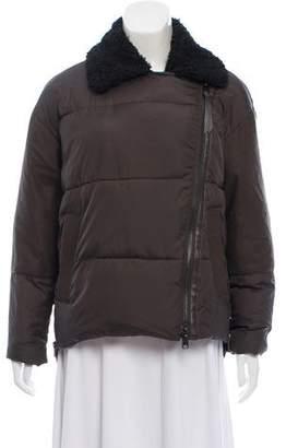 AllSaints Elita Biker Puffa Coat