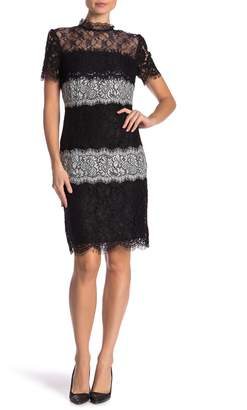 Everleigh Sheer Yoke Multi-Lace Dress