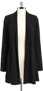 Calvin Klein Shawl Collar Open Front Cardigan