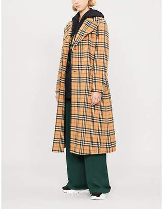 Burberry Aldermoore checked wool coat
