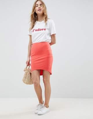 Asos Design DESIGN mini skirt with curved hem