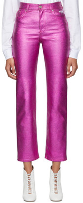 MSGM Pink Metallic Jeans
