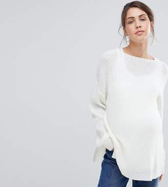 Asos Nursing DESIGN Maternity Nursing sweater with lace v back