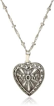 DAY Birger et Mikkelsen 1928 Jewelry Mother's Items Pewter Heart Mom Pendant