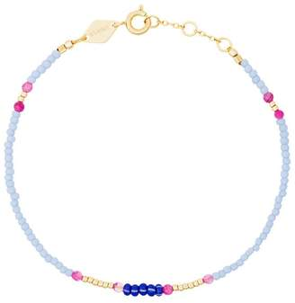 Anni Lu Blue, Pink And Yellow Peppy Gold Plated Bracelet