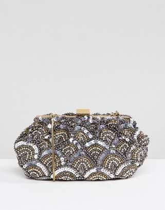 Park Lane Handmade Embellished Structured Clutch Bag