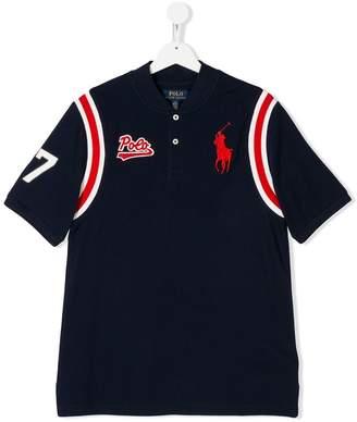 Ralph Lauren Kids TEEN logo embroidered baseball shirt
