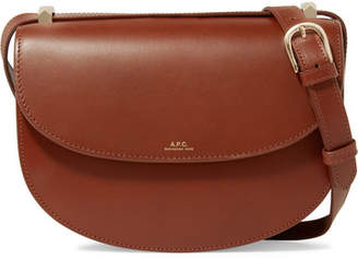 A.P.C. Genève Leather Shoulder Bag - Tan