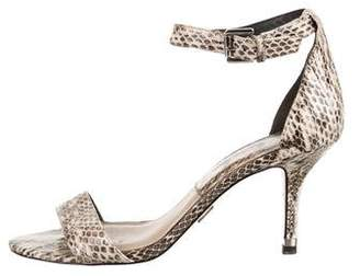 99223d849 Pre-Owned at TheRealReal · Michael Kors Snakeskin Ankle-Strap Sandals