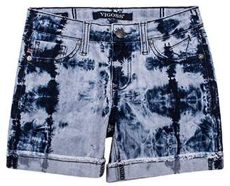 Vigoss Girl's Denim Mid Shorts Tie Dye