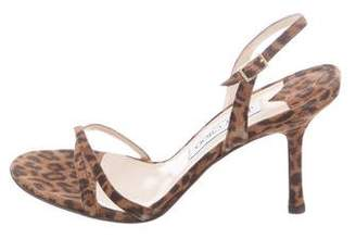 Jimmy Choo Suede Ankle-Strap Sandals
