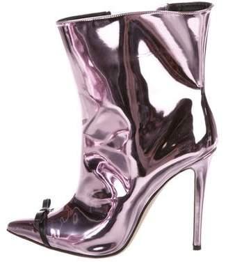 Marco De Vincenzo Metallic Bow Ankle Boots
