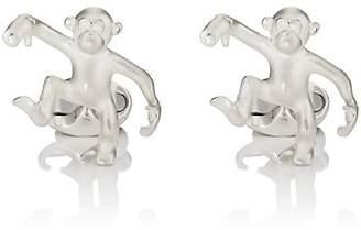 Deakin & Francis Men's Steve Dancing Monkey Cufflinks - Silver