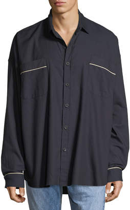 Fear Of God Men's Contrast-Piping Oversized Shirt
