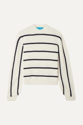 MiH Jeans Ashton Striped Cashmere Sweater - Cream