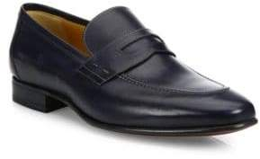 a. testoni Penny Slip-On Leather Loafers