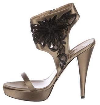 Valentino Satin Embellished Sandals
