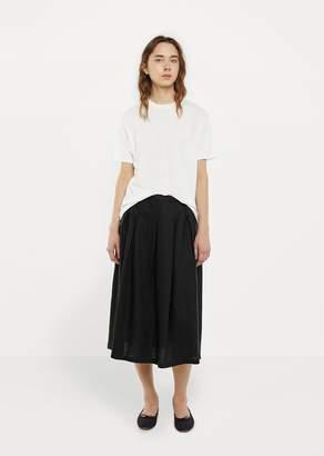 La Garçonne Moderne Linen Tuck Skirt Black