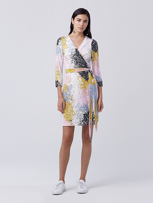 New Julian Two Mini Wrap Dress $398 thestylecure.com