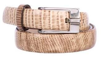 Dolce & Gabbana Embossed Buckle Belt