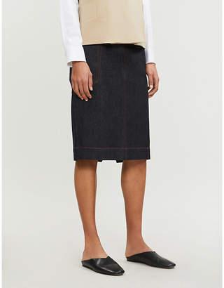 Joseph Kenneth stretch-denim skirt