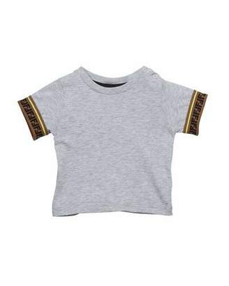 Fendi Boy's Short-Sleeve T-Shirt w/ FF Taping, Size 12-24 Months