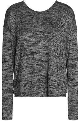 Rag & Bone Mia Open-Back Marled Stretch-Knit Sweater
