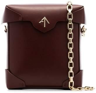 Atelier Manu reddish brown Mini Prisine leather chain strap shoulder bag