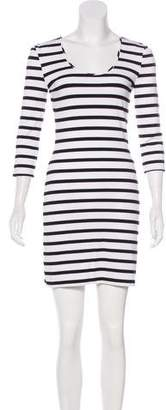Torn By Ronny Kobo Striped A-Line Dress