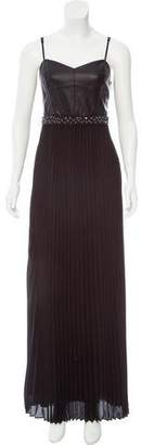 Laundry by Shelli Segal Embellished Pleated Dress