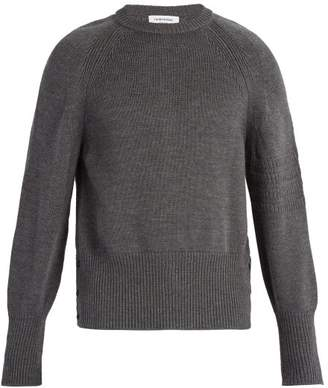 Thom Browne - Crew Neck Wool Sweater - Mens - Grey