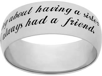 "Kohl's Sterling Silver ""Sister"" Ring"