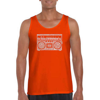 LOS ANGELES POP ART Los Angeles Pop Art Boom Box 80's Rap Hits Word Art Tank Top- Men's Big and Tall