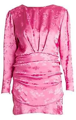 0426f8a3fe5fe ATTICO Women's Floral Jacquard Draped Mini Dress