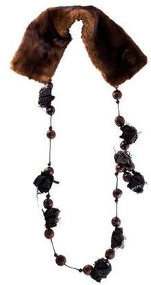Marni Fur Collar Necklace