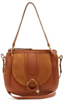 See By Chloé - Hana Suede And Leather Satchel Cross Body Bag - Womens - Tan