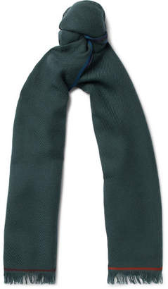 Loro Piana Four In Hand Fringed Cashmere Scarf