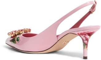 Dolce & Gabbana Floral Slingback Pump