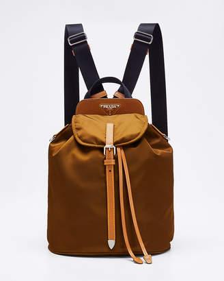 Prada Nylon Flap Backpack