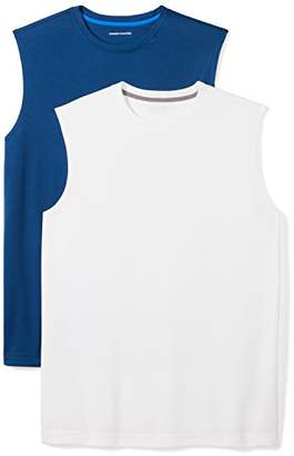 Amazon Essentials Men's 2-Pack Performance Muscle T-Shirts