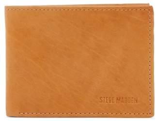 Steve Madden Antique Leather Passcase Wallet
