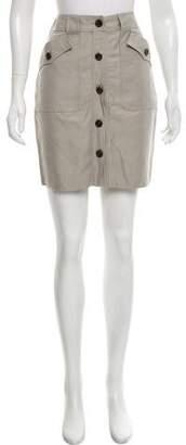 Proenza Schouler Button-Up Mini Skirt